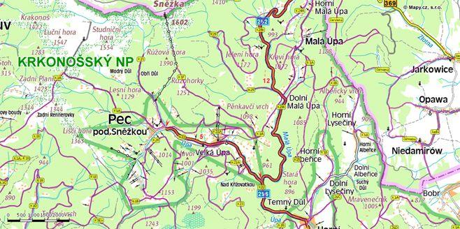 Cyklistické trasy Pec pod Sněžkou