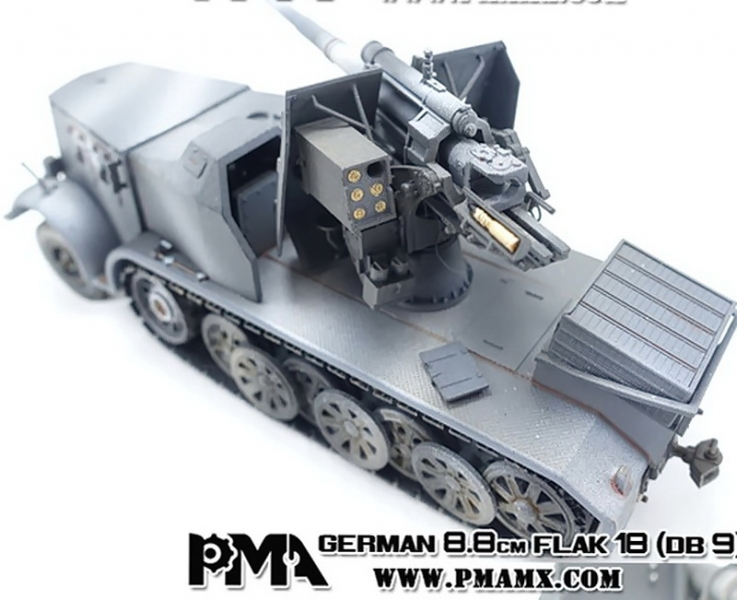 German 50 Mm Anti Tank Gun: Sd.Kfz.8 DB9 With FlaK 18 88mm Anti-Aircraft Gun, German