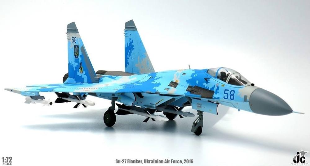 Blue 58 1:72 JC Wings JCW-72-SU27-003,Sukhoi Su-27Flanker-B Ukrainian Air Force